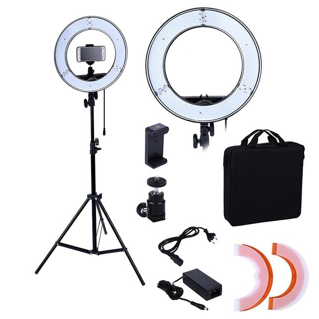 Photo Studio lighting 180PCS LED Ring Light 5500K Camera Phone Lighting Photography Dimmable Lamp With 2M Photo Tripod