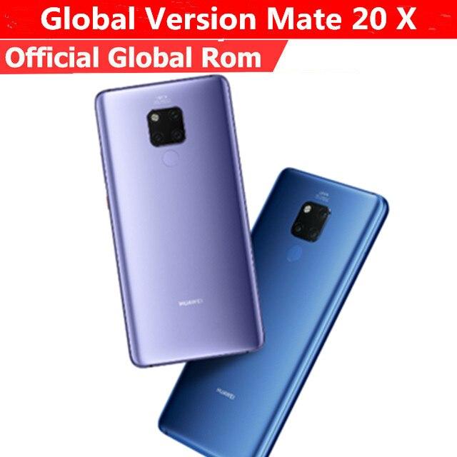 Женская модель HuaWei Mate 20 X телефон, телефон с идентификацией Φ Kirin 980, Android 9,0, 7,2 дюйма, 2240x1080, 6 ГБ ОЗУ 128 Гб ПЗУ, МП, NFC, Leica