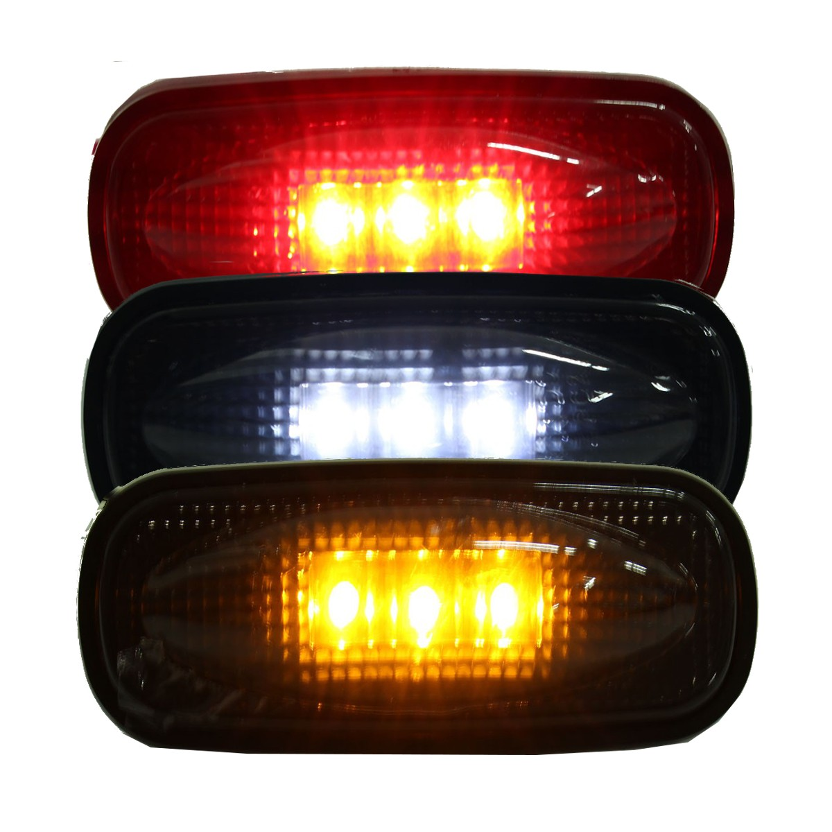 Bed Auto Car LED Side Marker Turn Signal Lights Lamps Smoke Lens For Ford F350 F450 LED For Fender