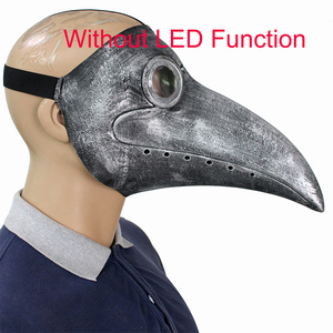 Image 5 - Retro Steampunk Plague Bird Doctor Cosplay Mask Latex LED Funny Event Holiday Halloween Party Costume Props