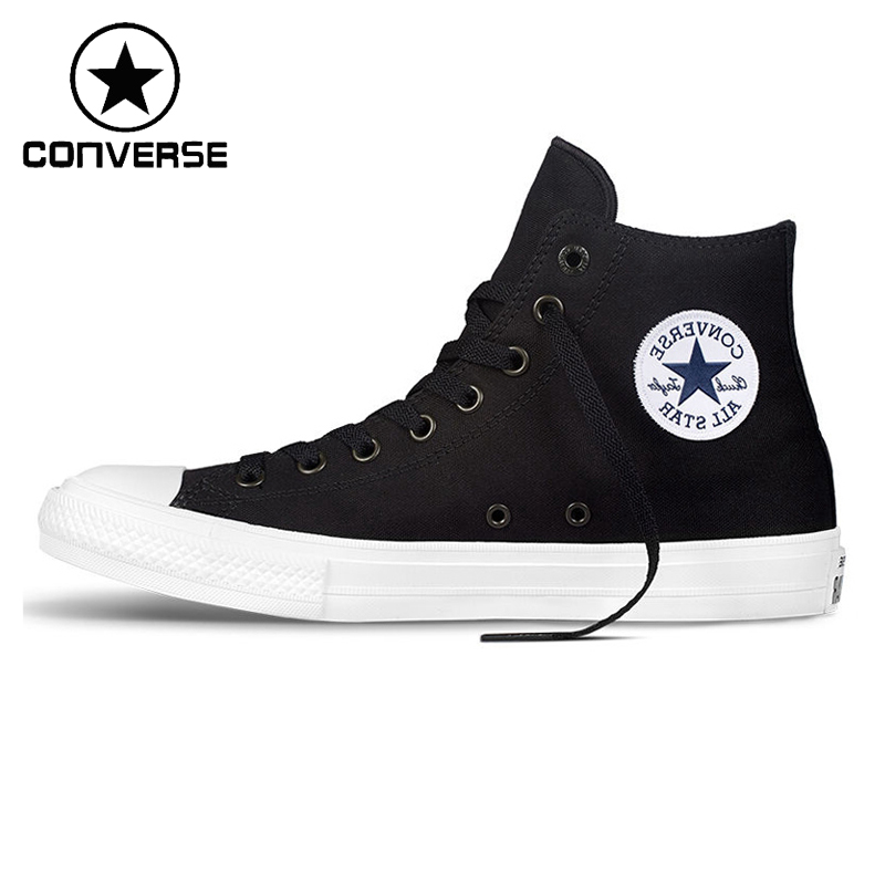 Original Converse Chuck Taylor ll Unisex High top Skateboarding Shoes Canvas Sneakers new converse chuck taylor all star ii high men women s sneakers canvas shoes classic pure color skateboarding shoes 150143c