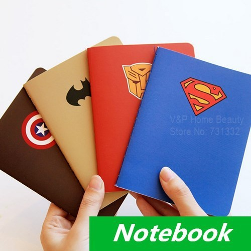 Creative School Book Cover Designs : Pcs lot hero theme notebook diary book notepad superman