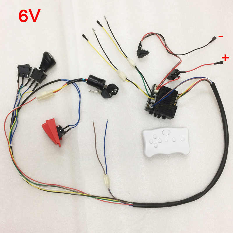 Pleasing Children Electric Car Diy Kit Wires Switch And Smooth Start Bluetooth Remote Control Baby Electric Ride On Car Accessories Wiring Cloud Hisonuggs Outletorg