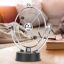 Electronic Perpetual Motion Desk Toy Planet Orbit Kinetic Crafts Home Office Decor for kids, friends, families(China)