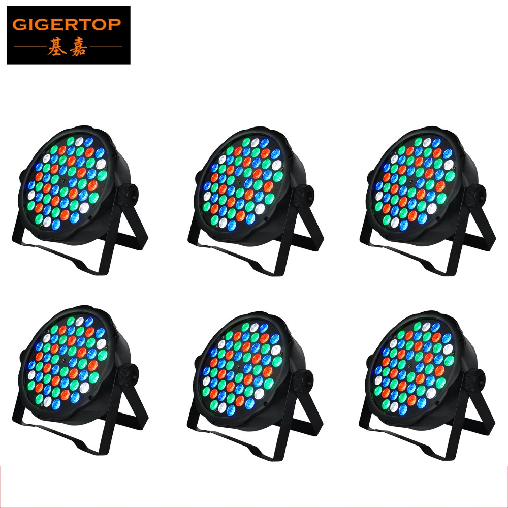 TIPTOP NEW 6pcs/lot Club Bar RGBW LED Stage Lighting DJ Home Party 80W show Professional Projector Light Disco 54pcs 1W Leds mini rgb led party disco club dj light crystal magic ball effect stage lighting