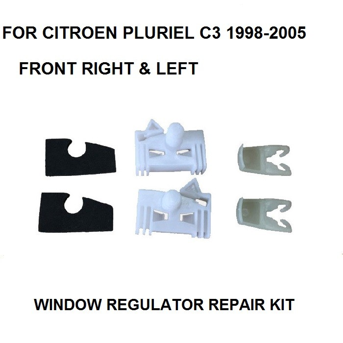 FOR CITROEN PLURIEL C3 / RENAULT CLIO WINDOW REGULATOR REPAIR CLIP FRONT RIGHT Or LEFT Plastic Clips