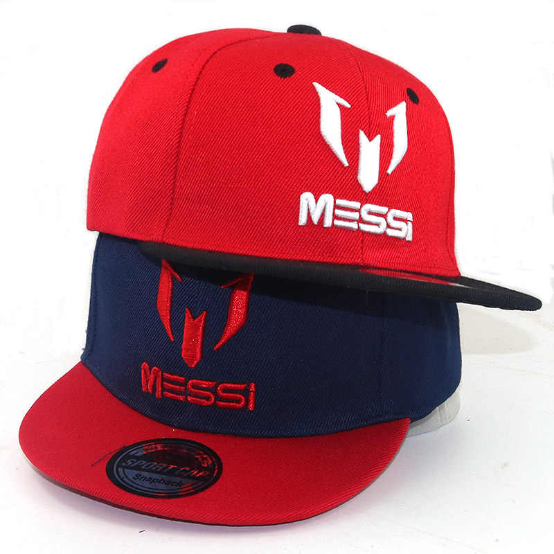 Children Outdoor sports hats Messi big bone Baseball Cap Kids Caps Hip Hop Snapback  hats Child 47437a45f97