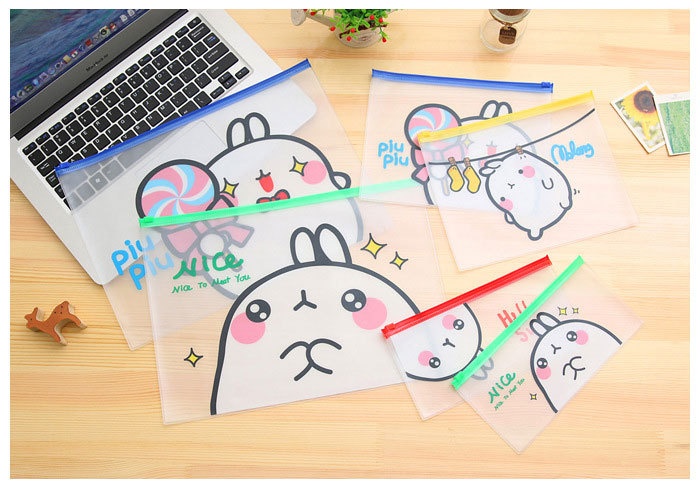 Lovely Rabbit File Folder Document Filing Bag For School Office Folders File Organizer Filing Production
