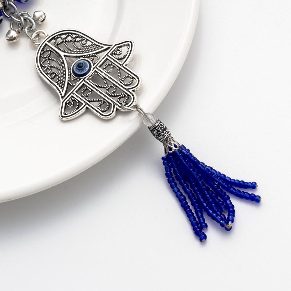 Lucky Eye Hamsa Sleutelhanger Tassel Muur Opknoping Boze Oog Amulet - Mode-sieraden - Foto 4