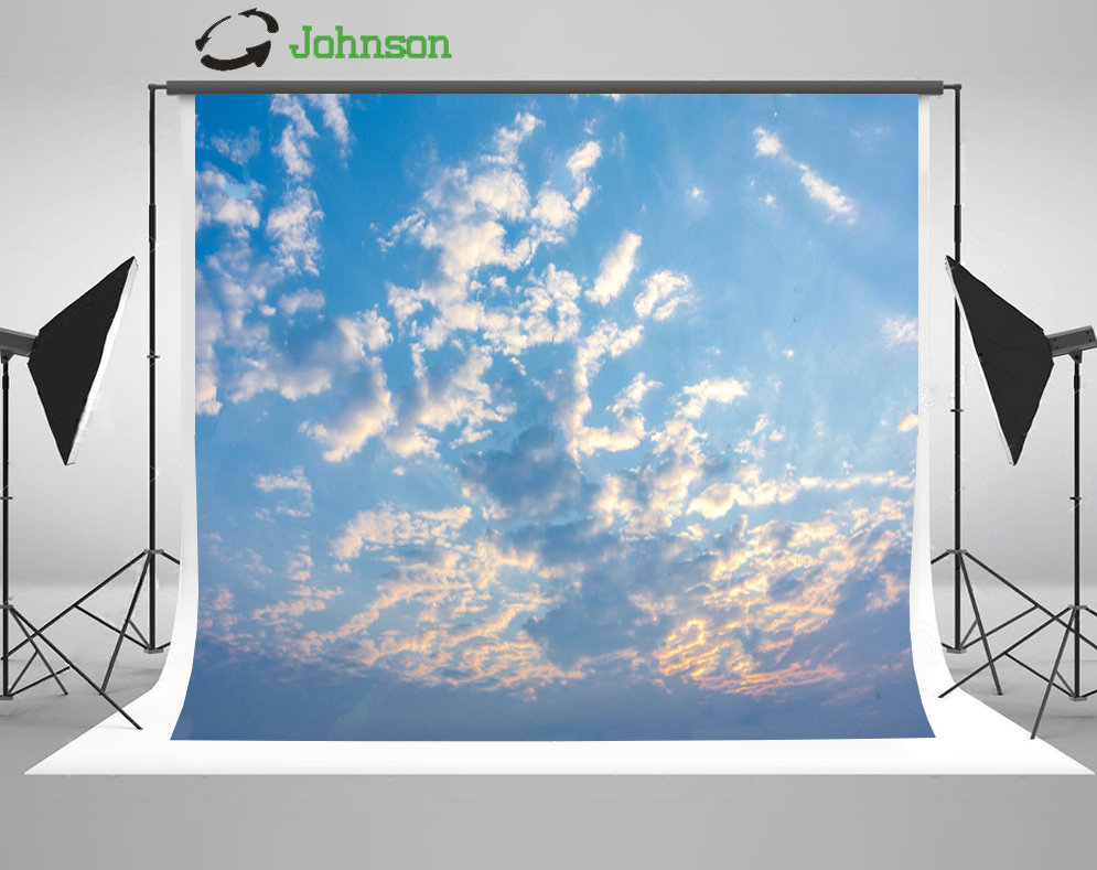 Sunrise Blue Sky White Clouds Backgrounds polyester or Vinyl cloth High quality Computer print wall backdrop