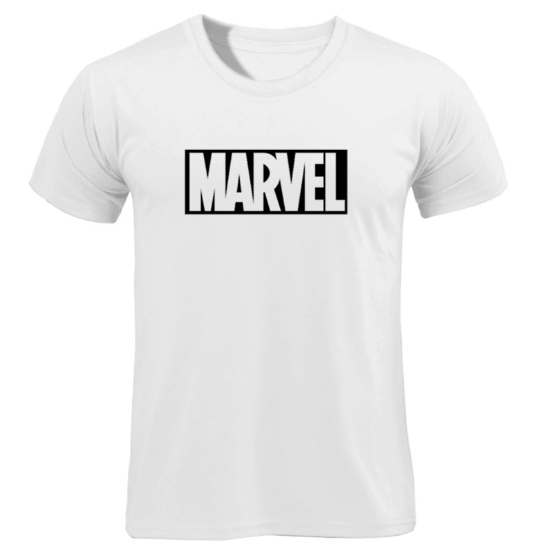2019 New Fashion Marvel Short Sleeve   T  -  shirt   Men Superhero print   t     shirt   O-neck comic Marvel   shirts   tops men clothes Tee
