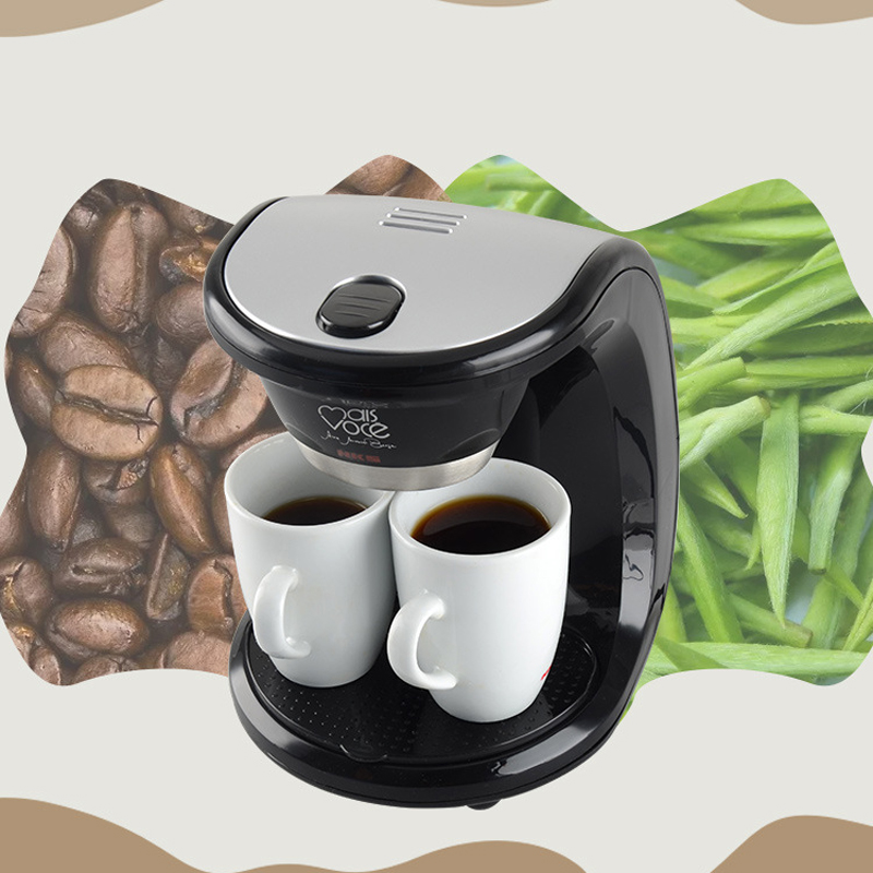 500W 2 Cups Drip Coffee Maker Electric Automatic Espresso Coffee Machine for Home Cafe American espresso portable coffee makers electric coffee machine fully automatic cafe american style coffee mini thermos coffee