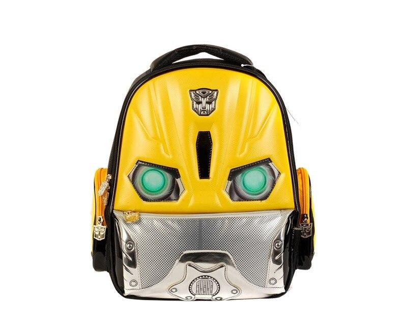 Transformer Bumblebee Kindergarten Child Backpack Boys School Student Bookbag