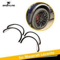 Колесо из углеродного волокна Брови для Maserati Levante 2016 2019 База Спорт S Спорт 4 дверное колесо крыло вспышки брызговики 4 шт./компл.