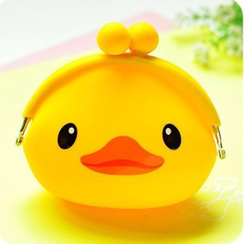 New 2017 Kawaii Cartoon Beautiful Gril Children Duck Coin Purse Zip Change Purse Wallet Kids Girl Women For Gift