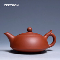 280cc Authentic Yixing Teapot Yupan Pot Jade Plate Pot Chinese Health Purple Clay Handmade Tea set Tea Pot Kettle brew Tea Maker