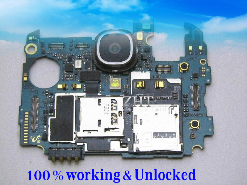 Unlocked European Language Original Google Motherboard For GALAXY S4 i9505 LTE 16GB PCB Board Clean IMEI Free Shipping switch