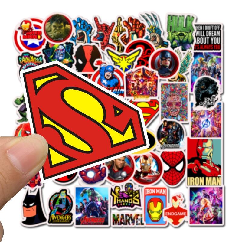 50pcs Stickers Marvel Superhero Stickers, Graffiti, Waterproof Skateboard Stickers, Pegatinas Superheroes Z030B