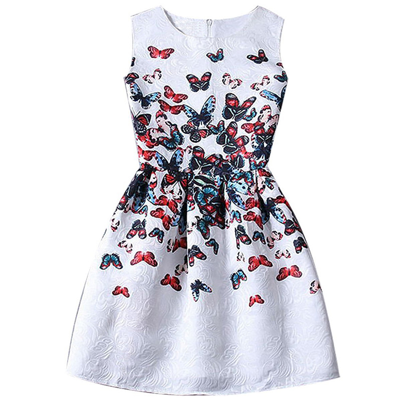 Summer Dress Girl Kids 2018 Princess Girls Dress Teenagers Children Robe Enfant Fancy Butterfly Dresses For Girls Party Frocks