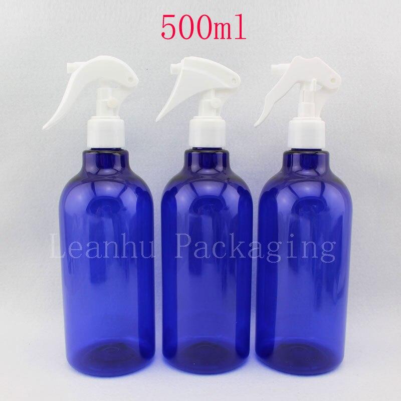 500ml X 12 botol pencetus plastik pencetus biru plastik, 500cc DIY - Alat penjagaan kulit