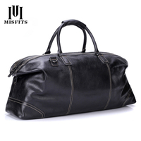 Foldable Full Grain Soft Genuine Leather Handbags For Men Large Capacity Portable Shoulder Bag Men's Casual Travel Bags Package