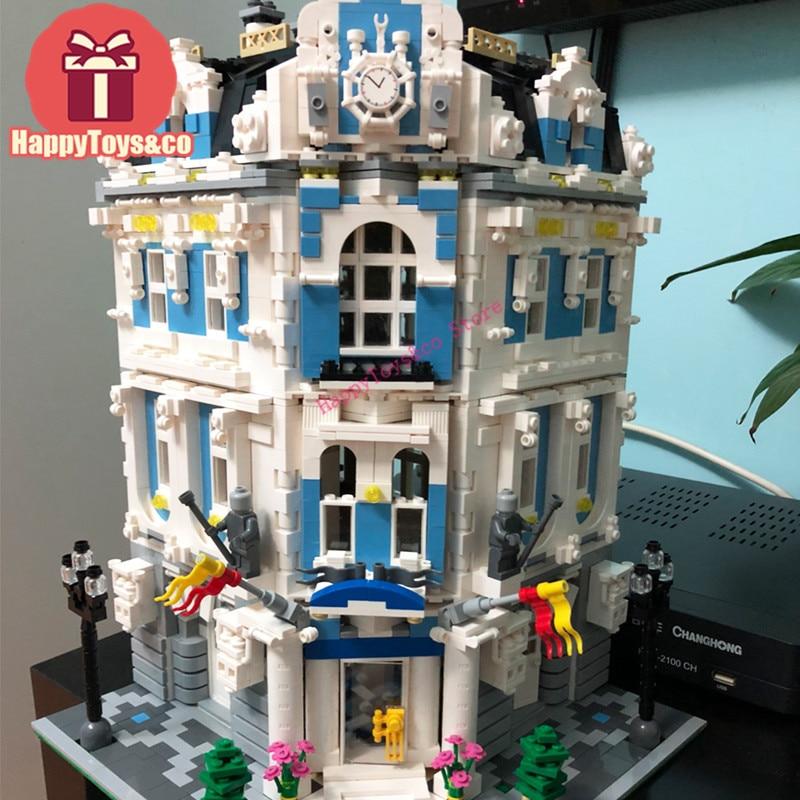 купить Legoing Street Scene series 3196Pcs The Sunshine Hotel toys For Children Gift 15018 Building Blocks Set Compatible Education по цене 6731.75 рублей
