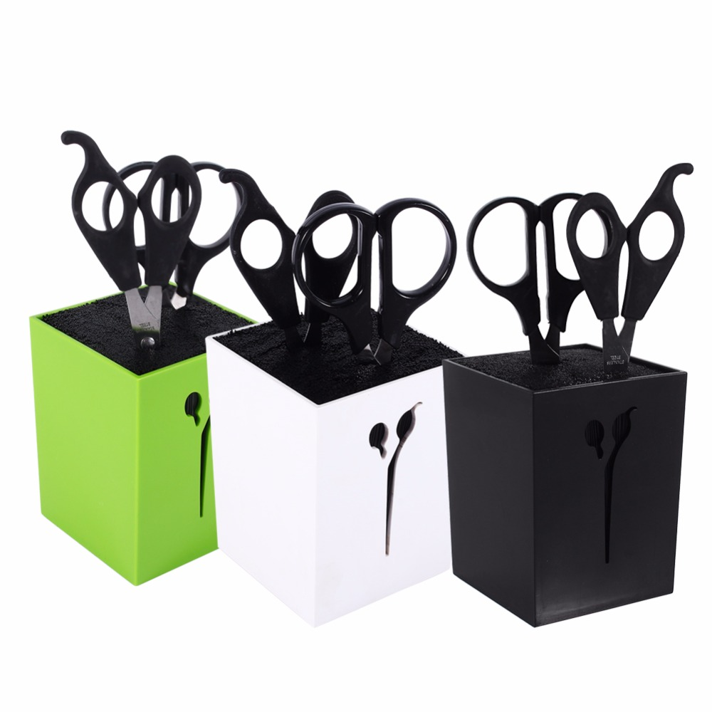 New-3Colors-Hairdressing-Haircut-Combs-Clamps-Scissors-Holder-Stand-Socket-Tool