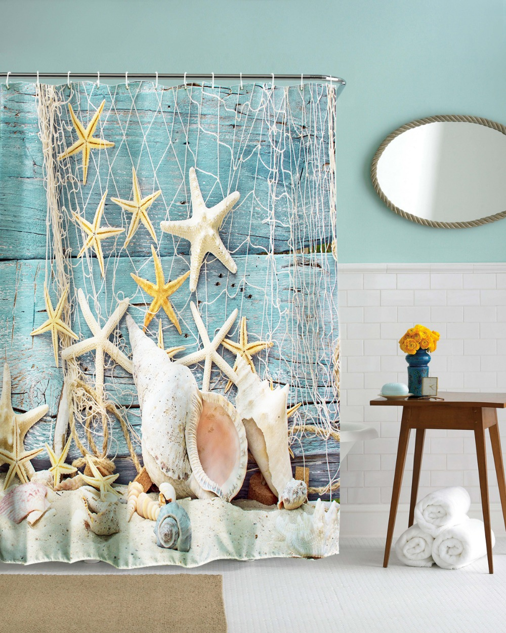 Trees Snow in Winter Sun Tapestry Wall Hanging Polyester Beach ...