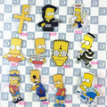 Hotsale popular simpson acrylic brooch Cartoon Harajuku badge Bag girl's Brooch Gift Channel trinkets ab33