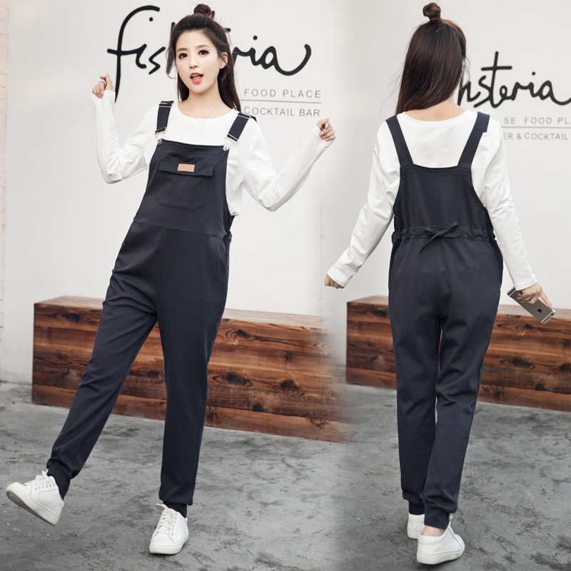 Maggies Walker Maternity suspenders pants Cotton overalls for pregnant women Spring autumn loose casual plus size bib pants mommy zone for pregnant woman denim bib pants jeans spring and autumn skinny pants and suspenders