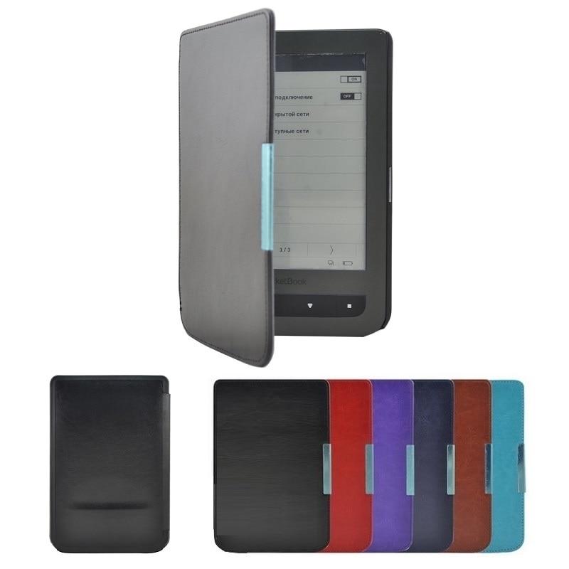 Solque PU Leather eBook Case For Pocketbook 615 Plus Luxury Slim Book Magnet Flip Cover For Pocket Book 615 eReader Cases