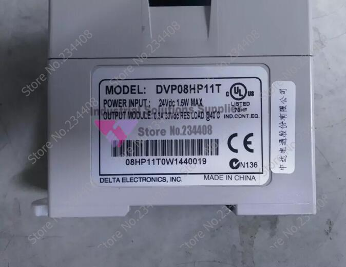 New original Delta DVP08HP11T Delta PLC Digital module EH2 series 24VDC 4DI 4DO Transistor output 1 year warranty new original delta dvp06sn11r dc24v plc 6do relay module