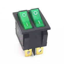 KCD2 Duplo Barco Rocker Switch 6 Pin On-Off Com Luz Vermelha Verde 20A 125VAC(China)