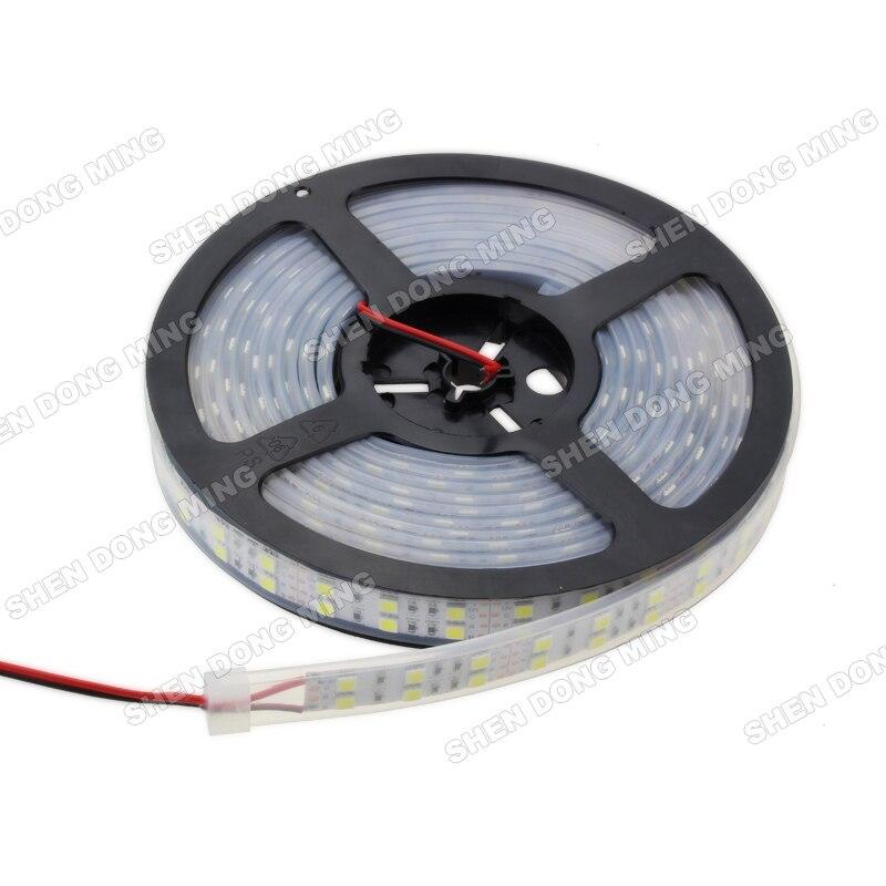 Bright Waterproof IP67 SMD 5050 120 LEDs/m flexible LED strip light tape RGB/warm/white DC12V indoor decoration ribbon lamp