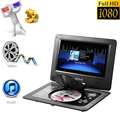 GKNUO GKN-101 10. 1 Inches DVD Player Portatil 16:9 TFT Screen Pixe 1024 * 600 Support SD/ USB AV for Gamepad TV DVD MP3 US Plug