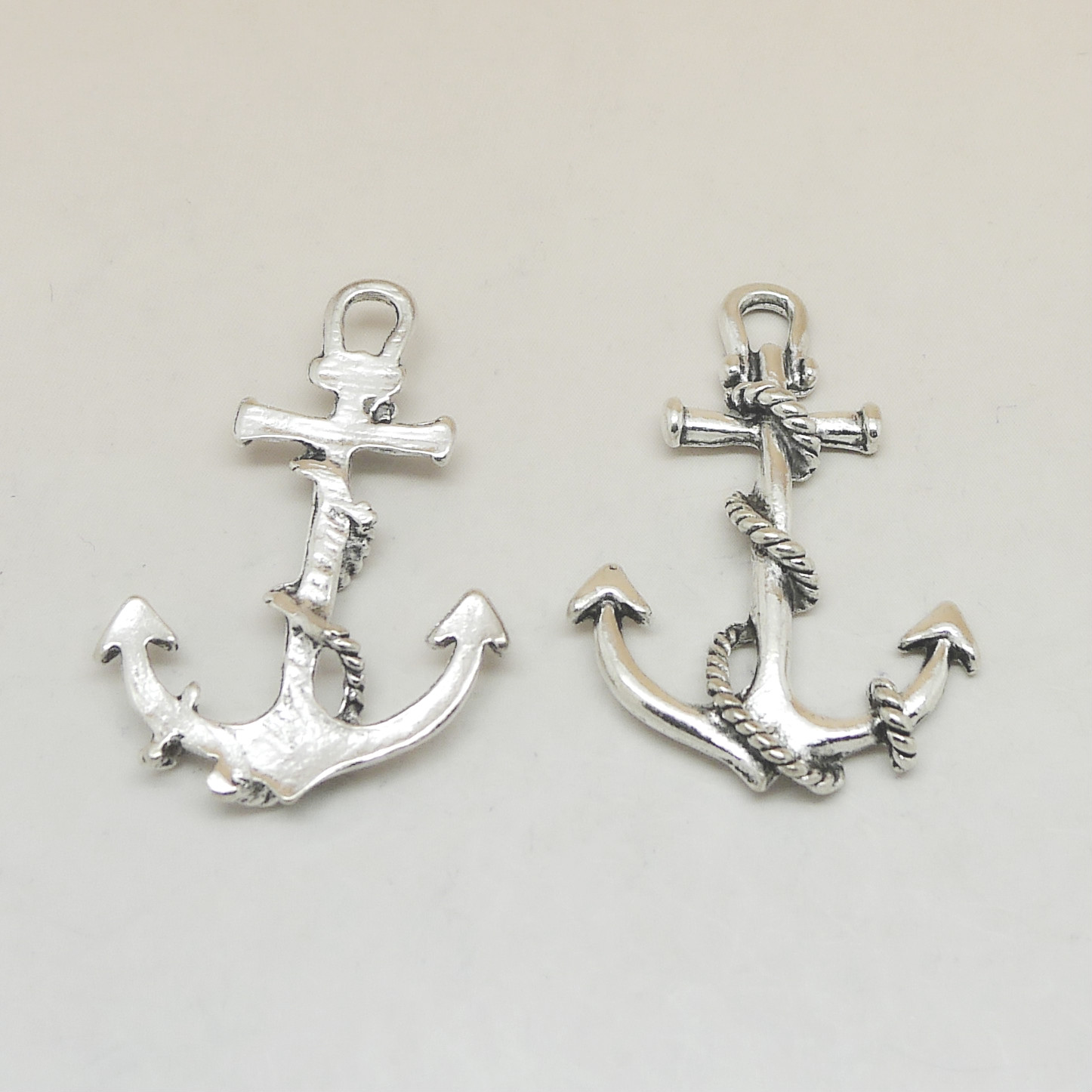 Wholesale 3pcs Lot 38x27MM DIY Vintage Antique Silver Anchor Charms For Necklace Bracelet Earring Keychain Jewelry Accessories in Charms from Jewelry Accessories
