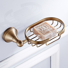 цена на Antique Brass Soap Dishes Wall Mounted Soap Dish Soap Holder Box Soap Basket Holder Bathroom Accessories ZD886