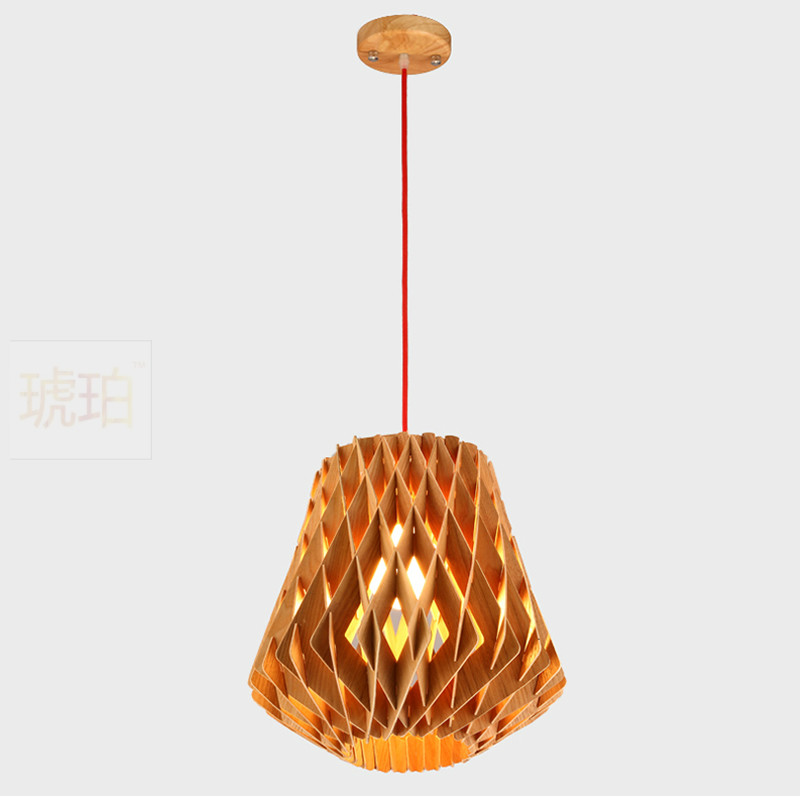 Modern Led Wooden Pendant Lights Minimalist Cage Home Furnishing Decorative pendant Lamp for dining room bar indoor lighting 10 lights modern minimalist creative dna molecular led pendant lights for bar home lighting plated bulb suspension luminaire