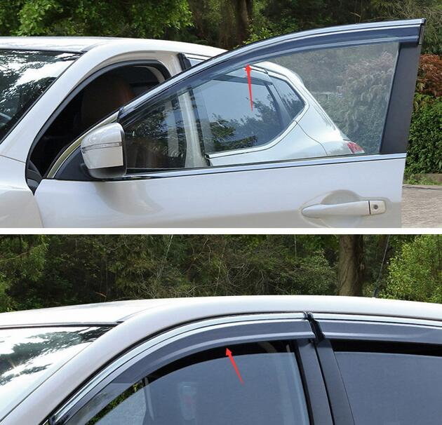 car-styling case For Nissan Qashqai J11 2016-17 Window Visor Vent Shades Sun Rain Deflector Guard Awnings Protector Car Styling
