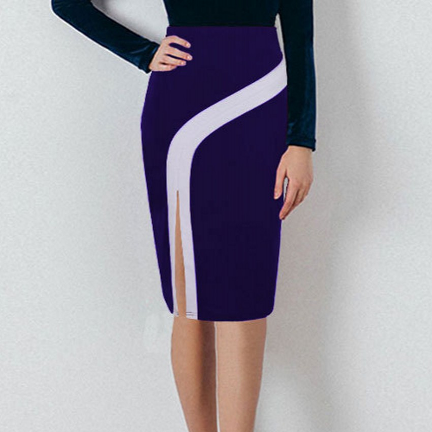 1f605b1167c US $13.99 38% OFF|S 4XL Plus Size Vintage Ladies Pencil Midi Skirts Women  High Waist Stretch Casual Wine Red Black Office Work Wear Saia Skirt-in ...