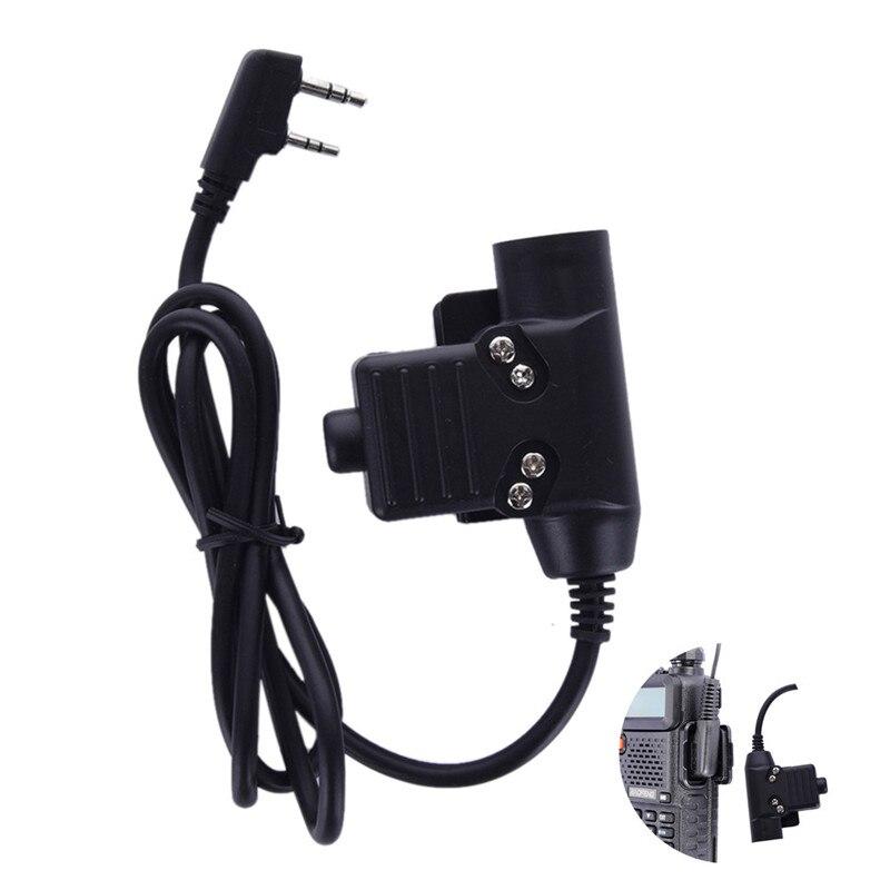 imágenes para U94 PTT Cable Plug para Z Táctica Bowman Elite II HD01 HD02 Headset Auricular para Kenwood BaoFeng UV-5R de Radio UV-82 CB GT-3 Radio