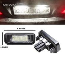 Автомобиль светодио дный Подсветка регистрационного номера для Mercedes W220 S-класс 99-05 Benz аксессуары SMD3528 светодио дный номерной знак лампа комплект 12 В
