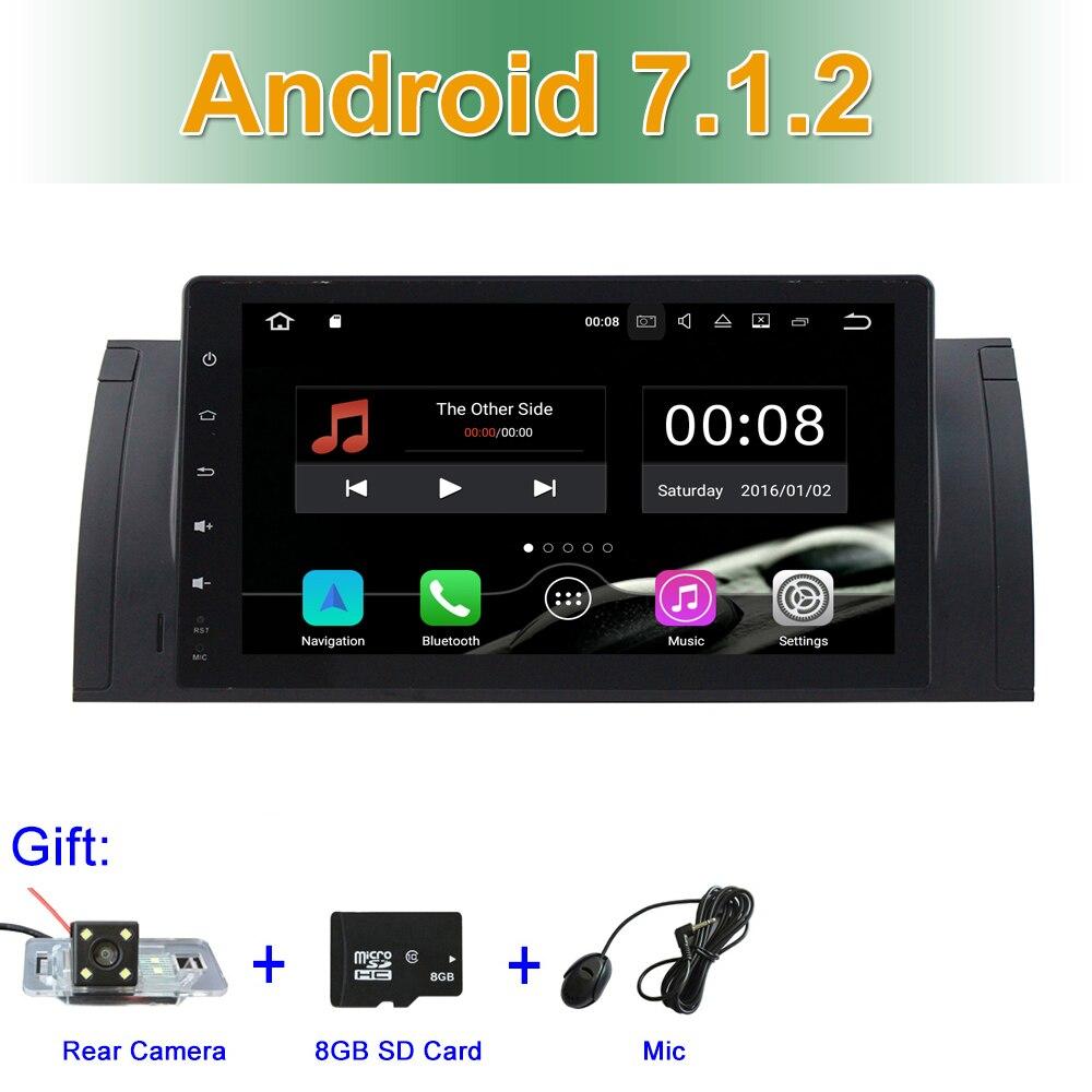 7.1.2 2 gb RAM Android Vídeo Do Carro DVD para BMW Série 5 E39 E53 com Radio BT WIFI GPS