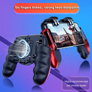 Image 5 - PUBG mobile controller joystick with cooling fan for iphone iOS Android Smartphone gamepad pubg trigger controller fan cooler