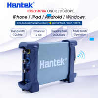 Hantek Ufficiale Oscilloscopio Digitale 2CH iDSO1070A USB iPhone/iPad/Android/Finestre Osciloscopio Portatil Con WIFI Oscillograph