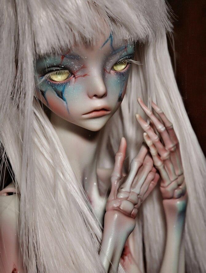 HeHeBJD el ermitaño IX muñeca de moda zombies muñeca esqueleto ojos libres resina BJD envío gratis-in Muñecas from Juguetes y pasatiempos    1