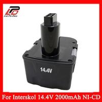 Replacement Power Tool batteia Cordless Drill for Interskol 14.4v H14 14.4V 2000mAh Ni CD DA 13 / 14.4E battery
