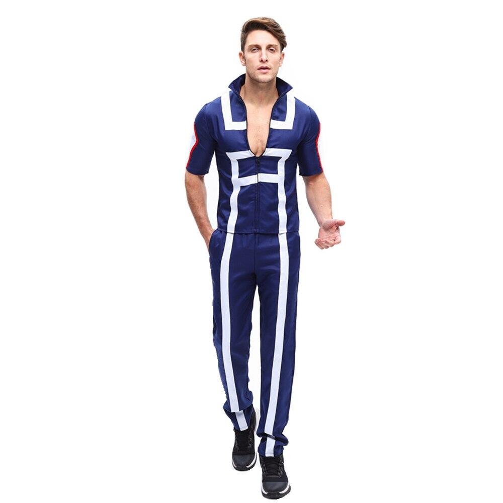 Anime boku nenhum herói academia kohei horikoshi vestuário cosplay trajes meu herói academia uniforme de halloween t camisa + calças conjunto