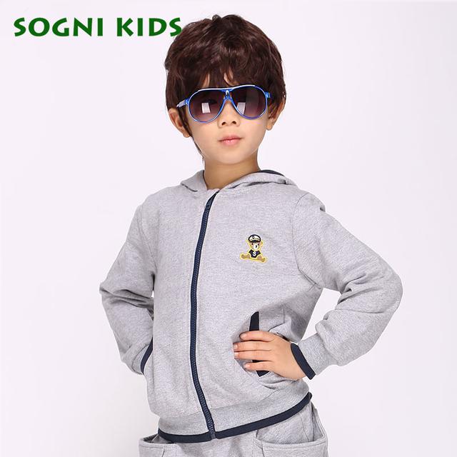 Crianças das camisolas dos meninos camisolas de algodão com capuz casaco de crianças meninos meninas roupas de bebê mangas Compridas Cardigan jaqueta com zíper outerwear