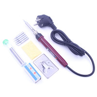 80W Soldering Iron Adjustable Temperature LCD Digital Electric Solder Rework Desoldering Iron Station With Solder Wire Tips Set Electric Soldering Irons